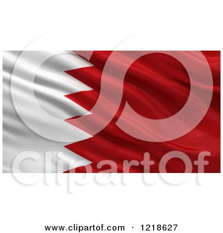 Clipart of a 3d Waving Flag of Bahrain with Rippled Fabric - Royalty Free Illustration by stockillustrations