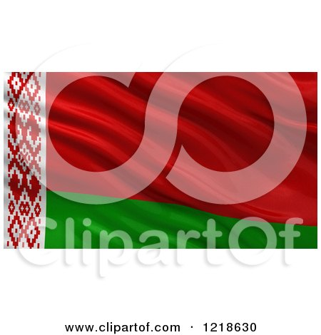 Clipart of a 3d Waving Flag of Belarus with Rippled Fabric - Royalty Free Illustration by stockillustrations