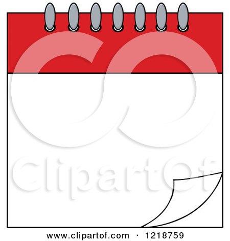 blank calendar clipart