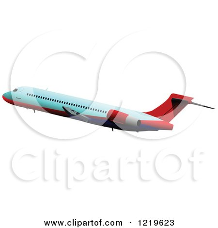 Clipart of a Commerial Airliner 2 - Royalty Free Vector Illustration by leonid