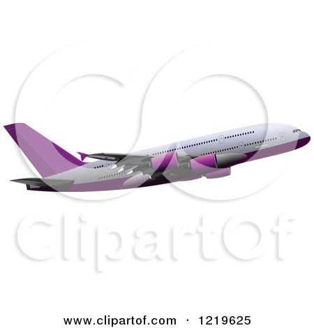 Clipart of a Commerial Airliner 5 - Royalty Free Vector Illustration by leonid