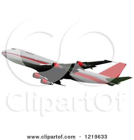 Clipart of a Commerial Airliner 11 - Royalty Free Vector Illustration by leonid