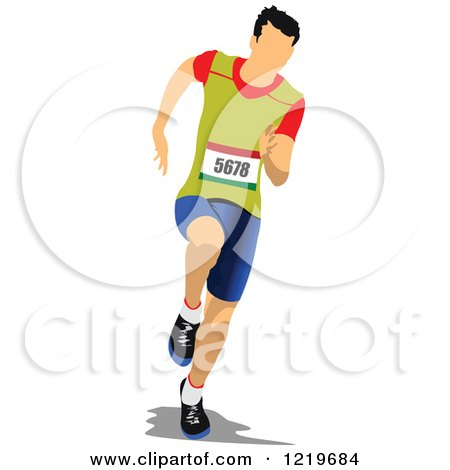 Clipart of a Runner 2 - Royalty Free Vector Illustration by leonid
