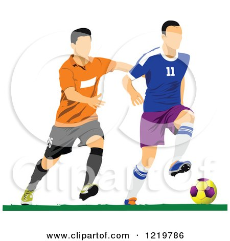 Clipart of Soccer Players 2 - Royalty Free Vector Illustration by leonid