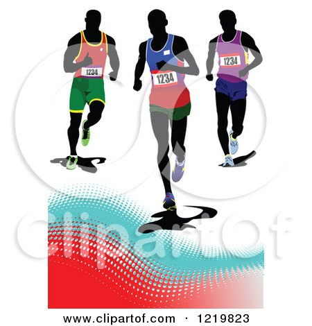 Clipart of Runners - Royalty Free Vector Illustration by leonid