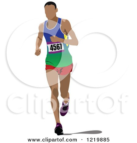 Clipart of a Runner - Royalty Free Vector Illustration by leonid