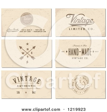 Clipart of vintage business card designs with sample text royalty clipart of vintage business card designs with sample text royalty free vector illustration by bestvector colourmoves Choice Image