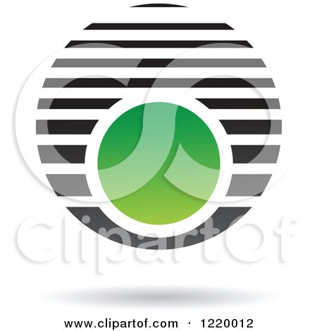 Clipart of a Green and Black Sphere 5 - Royalty Free Vector Illustration by cidepix