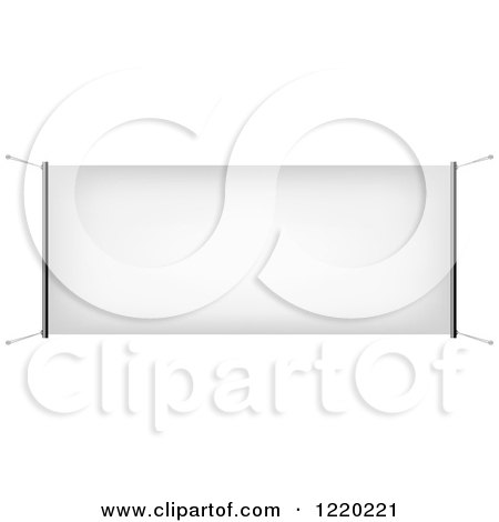 Clipart of a Suspended Canvas Sign 2 - Royalty Free Vector Illustration by cidepix