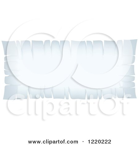 Clipart of a Vintage White Parchment Banner - Royalty Free Vector Illustration by cidepix