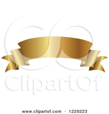Clipart of a Vintage Golden Banner Scroll 2 - Royalty Free Vector Illustration by cidepix
