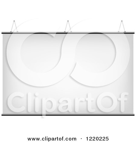 Clipart of a Suspended Canvas Sign - Royalty Free Vector Illustration by cidepix