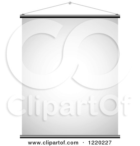 Clipart of a Suspended Canvas Sign 3 - Royalty Free Vector Illustration by cidepix