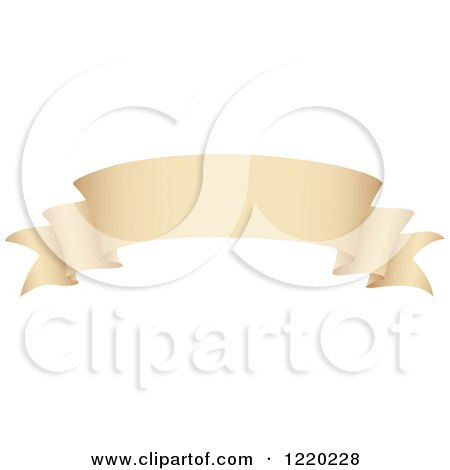 Clipart of a Vintage Parchment Banner Scroll 2 - Royalty Free Vector Illustration by cidepix