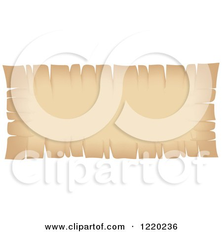 Clipart of a Vintage Parchment Banner - Royalty Free Vector Illustration by cidepix