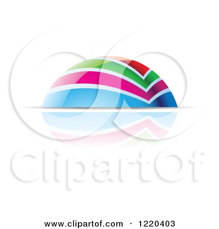 Clipart of a Colorful Dome and Reflection 2 - Royalty Free Vector Illustration by cidepix