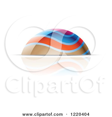 Clipart of a Colorful Dome and Reflection - Royalty Free Vector Illustration by cidepix