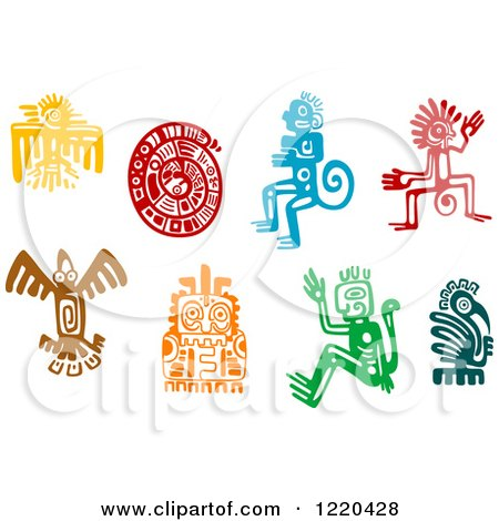 Clipart of Ancient Hieroglyph Tribal Art - Royalty Free Vector Illustration by Vector Tradition SM