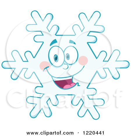 Clipart of a Happy Snowflake Mascot - Royalty Free Vector Illustration by Hit Toon