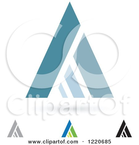 Clipart of Letter a Icons - Royalty Free Vector Illustration by cidepix
