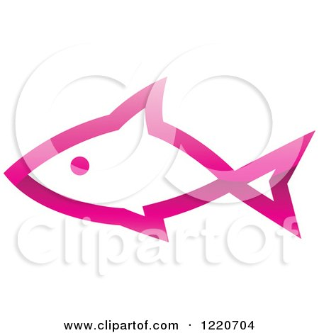 Clipart of a Pink Fish 2 - Royalty Free Vector Illustration by cidepix