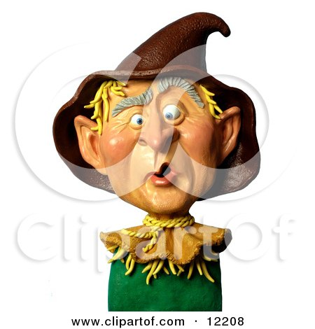 Clay Sculpture Clipart George W Bush As A Scarecrow  - Royalty Free 3d Illustration  by Amy Vangsgard