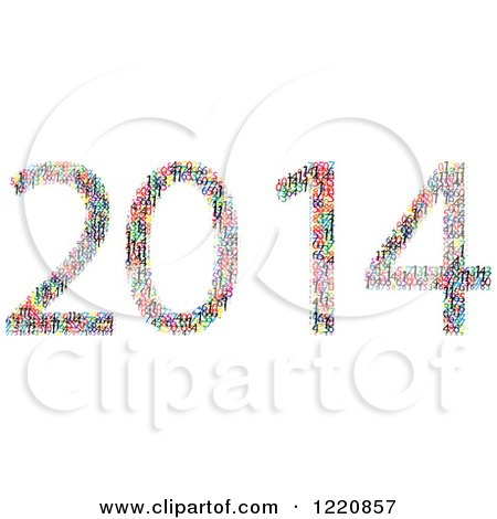 Clipart of Colorful Numbers Forming New Year 2014 - Royalty Free Vector Illustration by Andrei Marincas