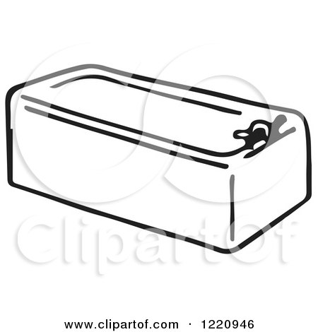 tub clipart black and white. clipart of a black and white bath tub - royalty free vector illustration by picsburg