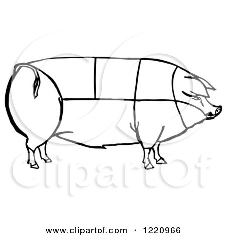 Royalty-Free Vector Clip Art Illustration of an Outline Of ...