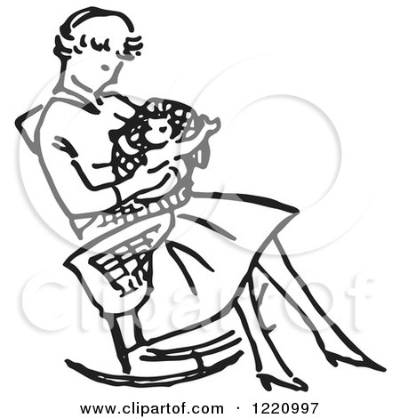 Baby Rocking Chair Clipart A Baby In A Rocking Chair