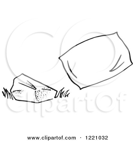 pillow clipart black and white. clipart of a black and white rock pillow royalty free vector illustration by picsburg r