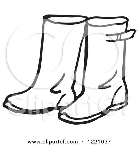 RoyaltyFree RF Clipart of Rain Boots Illustrations