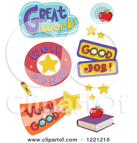 Clipart of Educational Phrases - Royalty Free Vector Illustration by BNP Design Studio