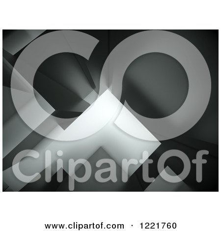 Clipart of a 3d Grayscale Background of Abstract Cubes - Royalty Free Illustration by chrisroll
