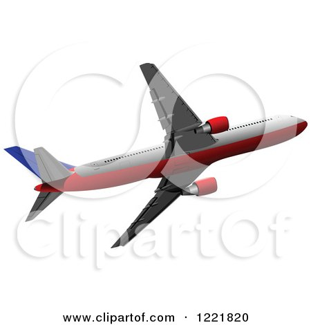 Clipart of a Commercial Airliner - Royalty Free Vector Illustration by leonid