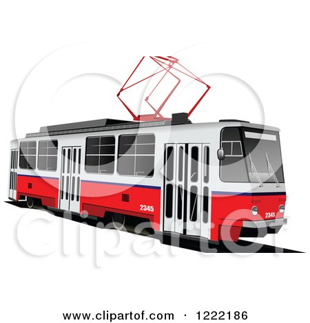 Clipart of a Tram - Royalty Free Vector Illustration by leonid