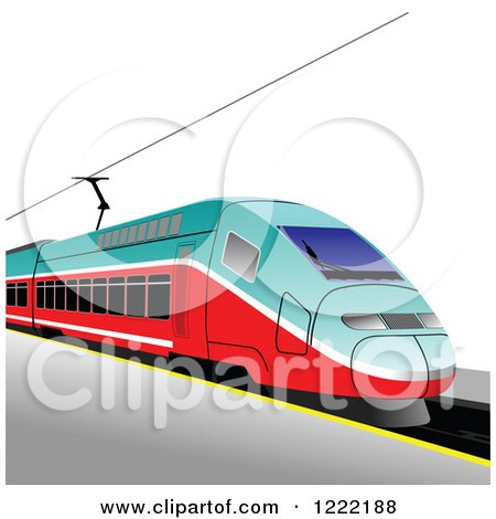 Clipart of a Train - Royalty Free Vector Illustration by leonid