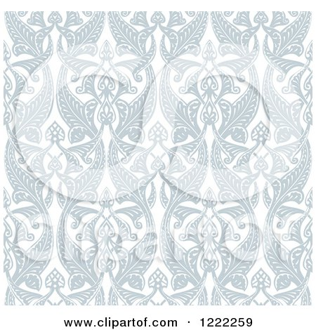 Clipart of an Ornate Seamless Art Nouveau Pattern Background - Royalty Free Vector Illustration by AtStockIllustration