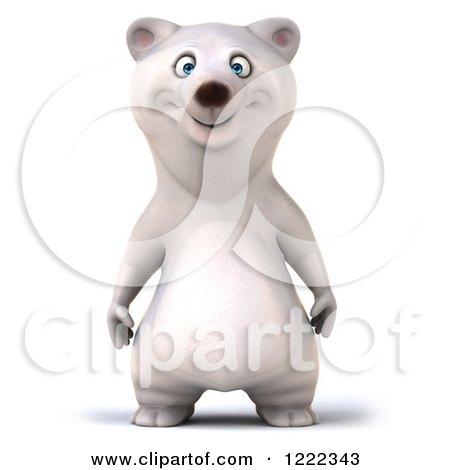 3d Happy Polar Bear Mascot Posters, Art Prints