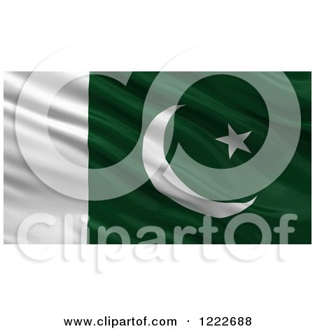 Clipart of a 3d Waving Flag of Pakistan with Rippled Fabric - Royalty Free Illustration by stockillustrations