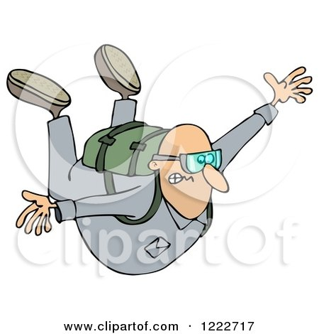 Royalty-Free (RF) Skydiving Clipart, Illustrations, Vector Graphics #1