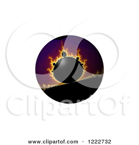 Clipart of a Fiery Fractal Globe - Royalty Free Illustration by oboy
