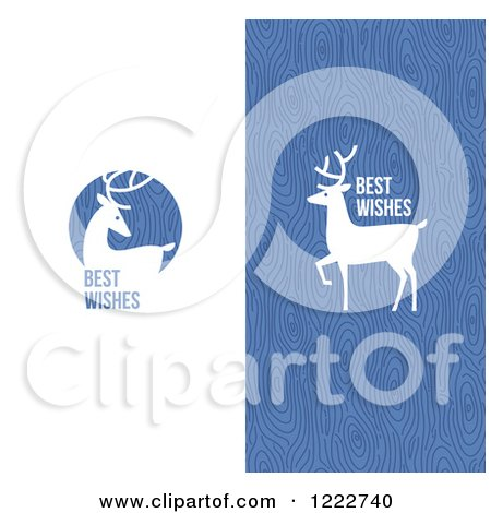 Clipart of Reindeer with Best Wishes Greetings - Royalty Free Vector Illustration by elena