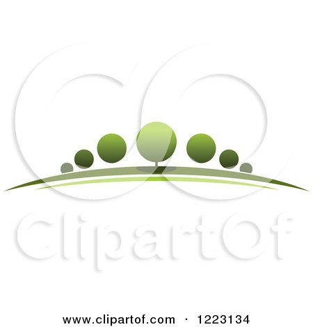 Clipart of a Landscape with Green Trees 6 - Royalty Free Vector Illustration by Vector Tradition SM