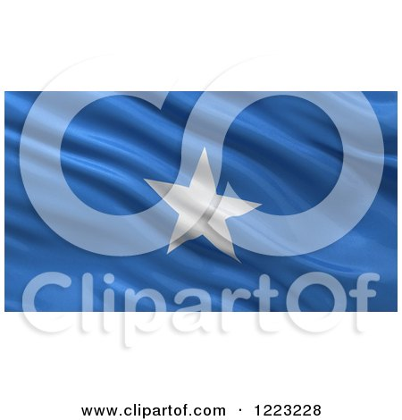 Clipart of a 3d Waving Flag of Somalia with Rippled Fabric - Royalty Free Illustration by stockillustrations