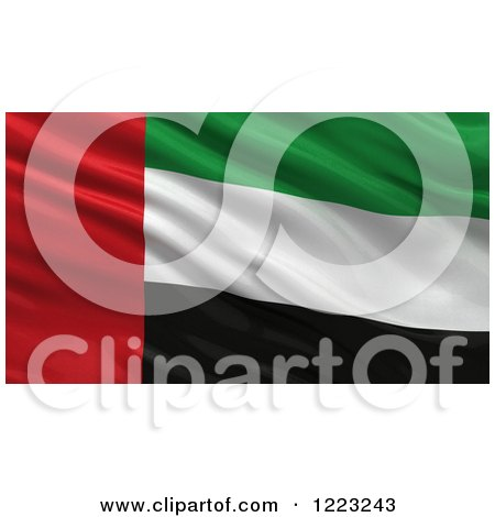Clipart of a 3d Waving Flag of United Arab Emirates with Rippled Fabric - Royalty Free Illustration by stockillustrations