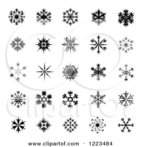 how to draw small snowflakes