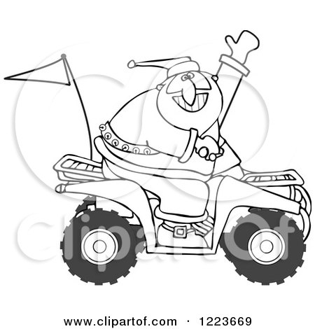 1223669 Outlined Santa Waving And Driving An Atv Mud Bug rv vans motorhome rv find image about wiring diagram, schematic,Vintage Camper Wiring