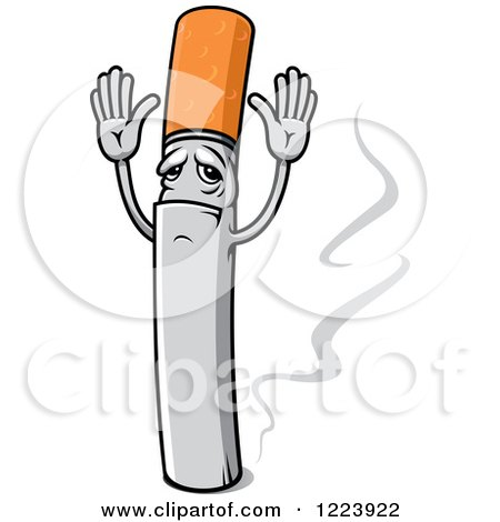 Cigarette Character Giving up Posters, Art Prints