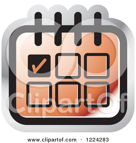 Clipart Of A Green Calendar Or Chart Icon Royalty Free Vector